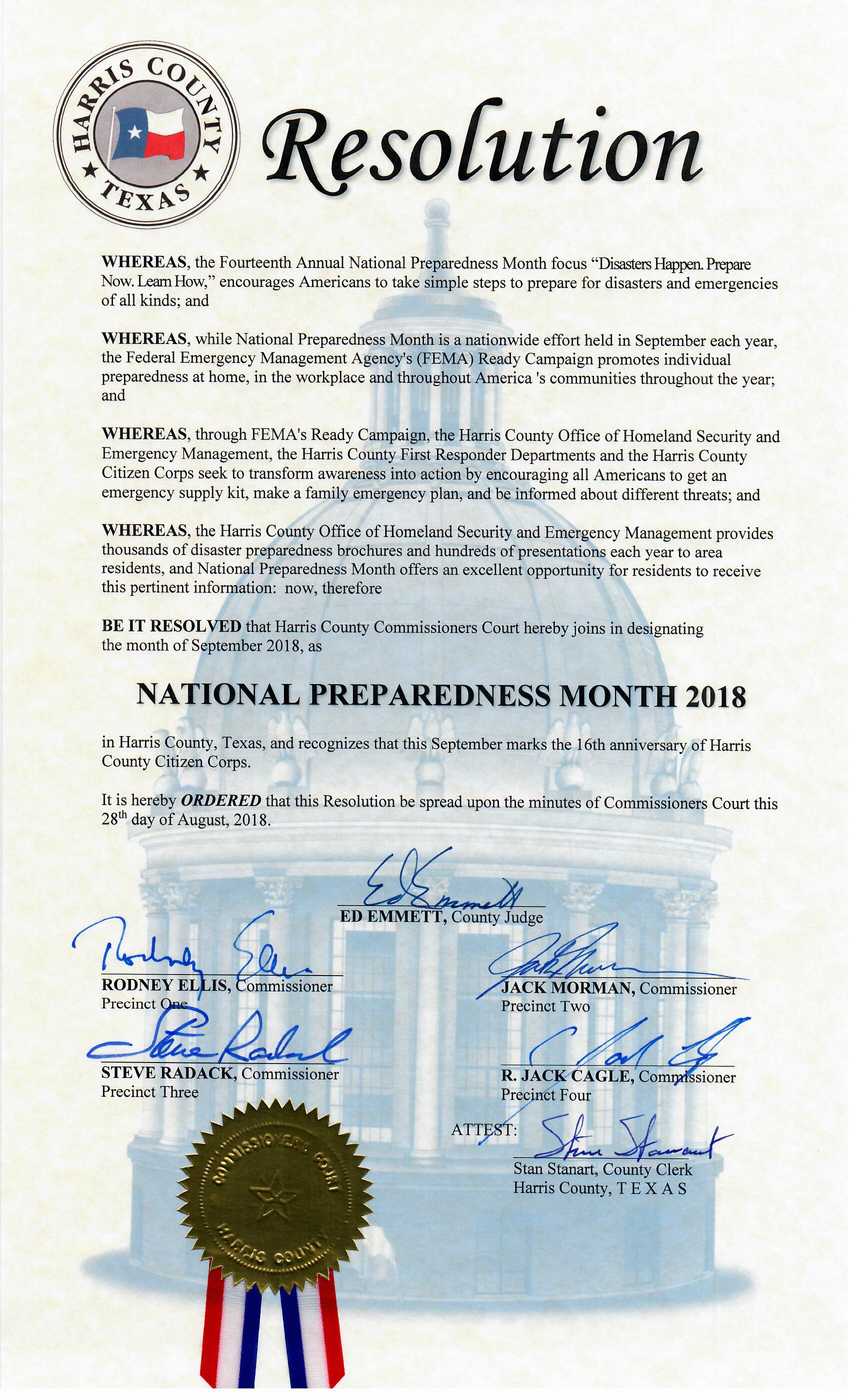 National Prep Month certificate